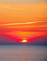 Red Sky Sunset Over Beach Wall Mural Decal Sticker 6005 Stickerbrand