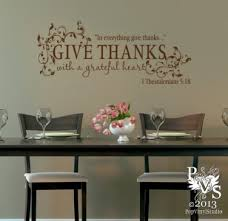 Give Thanks With A Grateful Heart Scripture Wall Decal You Choose Color Free Us Shipping