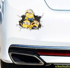Minions Decal Minions Sticker Car Truck Decal Window Wall Etsy
