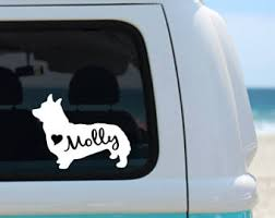 Corgi Decal Etsy