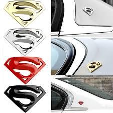 3d Chrome Metal Auto Car Motorcycle Superman Logo Sticker Badge Emblem Decal New Ebay