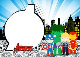 Extraordinario Invitaciones De Los Avengers Gratis Ondedrawer