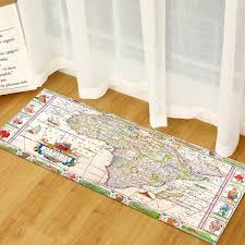 Sunsky World Map Carpets Rug Bedroom Kids Baby Play Crawling Mat Memory Foam Area Rugs Carpet Size 60x180cm Africa Map