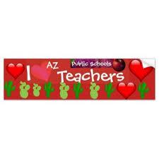 Love Arizona Redfored Public School Bumpers Bumper Sticker Personalize Custom Customizable Bumper Stickers Public School Custom Holiday Card