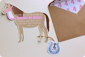Blank Horse Invitations Here Are The Pony Party Cowgirl Birthday