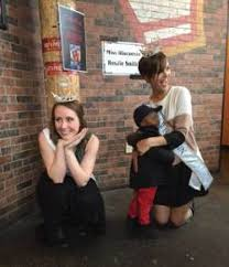 Miss-Wisconsin-Rosalie-Smith-hugs-fan-during-Toppers-Dough-Nation ...