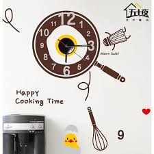 Wall Stickers Wall Decals Cartoon Our Happy Kitchen Clock Pvc Wall Stickers 2112965 2020 27 35