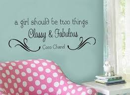 A Girl Should Be Two Things Classy Fabulous By Designstudiosigns 32 50 Vinyl Wall Art Decals Vinyl Wall Art Word Wall