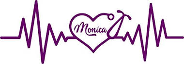 Tshirt Rocket Personalized Nurse Stethoscope Heart Decal Vinyl Car Decal Laptop Decal Sticker 12 Purple Wantitall