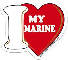 Amazon Com I Love My Marine Car Decal Sticker Automotive