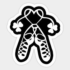 Irish Dance Shoes Ghillies Shirt For Girls St Patrick S Day Irish Dance Shoes Ghillies For Gi Sticker Teepublic