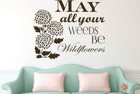 Flower Vinyl Decals Colorful Beautiful Customized Nature Themed Wall Decor