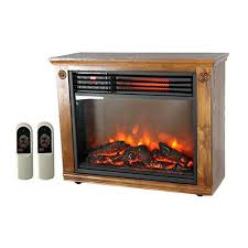 portable electric infrared quartz fireplace