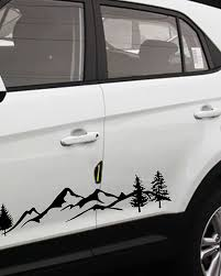 2pcs 100cm Universal For Tree Decal Mountain Scene Large Northwest Car Sticker Vinyl Truck Rv Toy Hauler Vehicle Car Accessories 7840959 2020 40 24