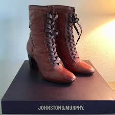 Johnston & Murphy Shoes | Johnston Murphy Adeline Brown Lace Up ...