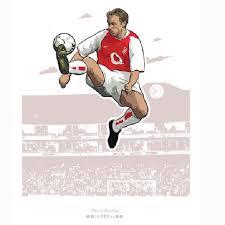 Soccer International Clubs 6 5 X 5 Arsenal Sticker Thierry Henry Dennis Bergkamp Window Decal Sports Mem Cards Fan Shop Cub Co Jp