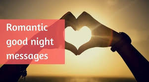 romantic good night message for my love