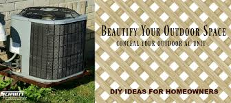 How To Conceal Your Outdoor Ac Unit Schmitt Heating Air Conditioning