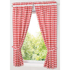 Pastoral Red Blue Plaid Short Curtains For Kitchen Window Treatments Kids Room Curtains For Bedroom Living Room Roman Blinds Curtains Aliexpress