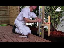 How To Install Wood Fencing Panels Youtube