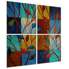Shop Peggy Davis 'In Full Color' Metal Wall Art - Free Shipping ...