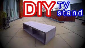 diy tv stand cabinet modern scaffold