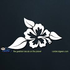Hawaiian Hibiscus Flower Car Window Decal Graphic Sticker