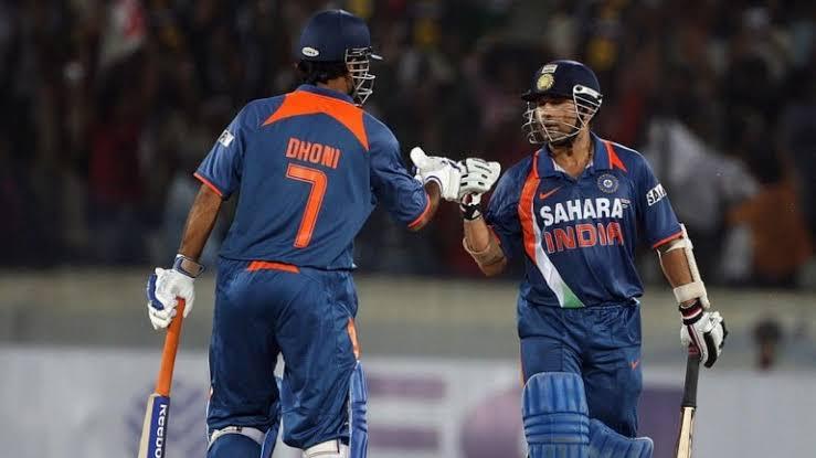 "Image result for Mahendra Singh Dhoni and Sachin Tendulkar"""