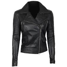 quilted leather jacket women