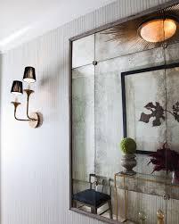 textured walls an antique mirror