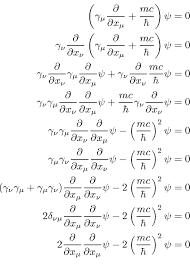 dirac equation for a free particle