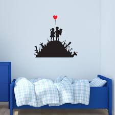Shop Kids On Guns Banksy Vinyl Wall Decal Sticker Mural Art Home Decor Overstock 12832528 39 Inches X 39 Inches