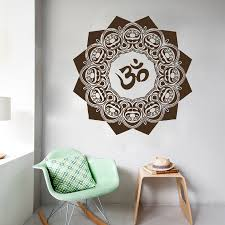 Wall Decals Mandala Yoga Om Symbol Indian Decal Vinyl Sticker Home Decor 22inx22in Indian Home Decor Olivia Decor Decor For Your Home And Office