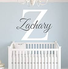 Amazon Com Custom Name Monogram Wall Decal For Boys Nursery Wall Decals Name Wall Decor Vinyl Baby