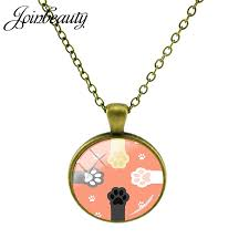 lovely dog paw print pendants necklaces