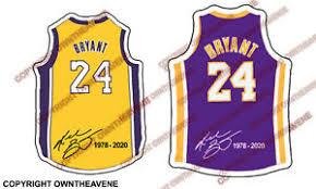 Kobe Bryant 24 Basketball Vinyl Jersey Sticker Car Decal Laptop Bumper Pack Lot Ebay