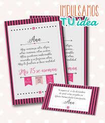 Invitacion De 15 Tarjeta De Quince Para Imprimir Fucsia Tarjetas De Quince Tarjetas De Invitacion Invitaciones