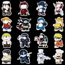 100pcs Set Cartoon Anime Doraemon Sticker For Luggage Laptop Skateboard Bike Motorcycle Decal Waterproof Sticker Stickers Aliexpress