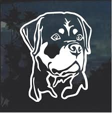 Rottweiler Rottie Head Dog Window Decal Sticker Custom Sticker Shop