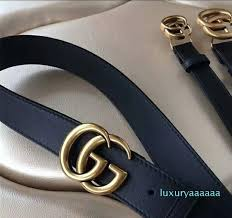 fashion letter buckle black leather