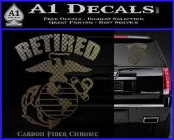 Usmc Retired Decal Sticker A1 Decals