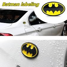 Silver Black Alloy Metal Decal Auto Car Batman Emblem Badge Stickers Universal