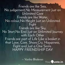 friends are like sea no quotes writings by varsha