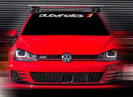 Product 48 X4 5 New Volkswagen R Gti Dubaholics White Custom Windshield Decal Sticker