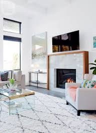 white quartz linear fireplace