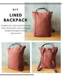 lined backpack tutorial pdf