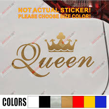King Crown Gold Queen Crown Gold Funny Car Car Decal Sticker Vinyl Truck Boat Die Cut No Background Car Decal Sticker Sticker Vinyldecal Sticker Aliexpress