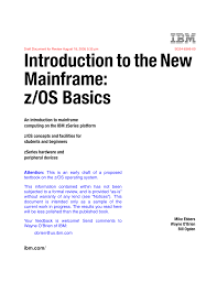 introduction to the new mainframe z os