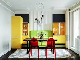 apartment in mid century modern style