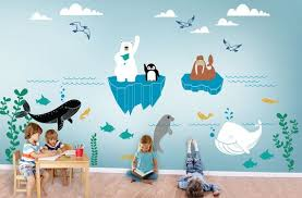 Alaska Wild Underwater World Wall Decal Kids And Nursery Etsy